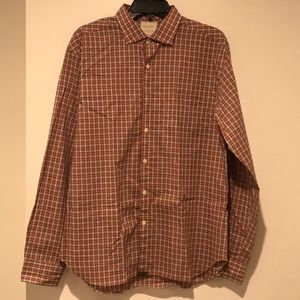 Billy Reid Red-Orange Plaid Shirt